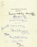Autographs:Military Figures, Military Commanders of Great Britain, 11 Signatures....
