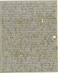 "Autographs:Military Figures, Robert E. Lee and William Henry Fitzhugh ""Rooney"" Lee Autograph Letter Signed to George Washington Custis Lee...."