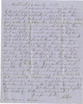 Autographs:Military Figures, Robert E. Lee and Mary Custis Lee Autograph Letter Signed....