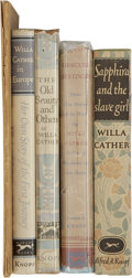 Books:First Editions, Lot of Five Willa Cather First Editions,... (Total: 5 Items)