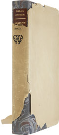 Books:Signed Editions, Willa Cather. Shadows on the Rock. New York: Alfred A. Knopf, 1931. First edition, limited to 619 copies, of whi...