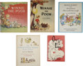 Books:Children's Books, Lot of Five A. A. Milne Books, Published in the U.S. Between 1944and 1967,... (Total: 5 Items)