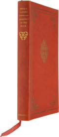 Books:Signed Editions, Willa Cather. Shadows on the Rock - Signed Vellum Edition.New York: Alfred A. Knopf, 1931....