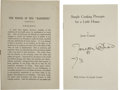 """Books:First Editions, Joseph Conrad Preface to The Nigger of the """"Narcissus"""" and a Signed Limited Preface to Simple Cooking Precep... (Total: 2 Items)"""