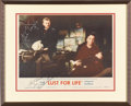 Movie/TV Memorabilia:Autographs and Signed Items, Kirk Douglas and Others Signed Lust For Life Lobby Card(1956)....