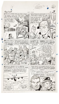 Dick Ayers and Carl Hubbell - Sgt. Fury #22, page 3 Original Art (Marvel, 1965)