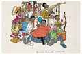 animation art:Production Drawing, Fat Albert and the Cosby Kids Animation Promotional Cel OriginalArt (Filmation, 1976)....