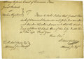 Autographs:Statesmen, [Continental Congress] Peter W. Yates Document Signed. ...