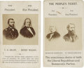 Political:Small Paper (pre-1896), Greeley & Brown and Grant & Wilson: Super Pair of 1872 Campaign Cartes de Visite.... (Total: 2 Items)