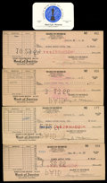 Movie/TV Memorabilia:Documents, Marilyn Monroe's Academy Membership Card and SAG Checks. ...