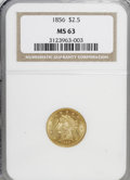 Liberty Quarter Eagles, 1856 $2 1/2 MS63 NGC....
