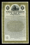 Miscellaneous:Other, United New Jersey Rail Road and Canal Company $1000 Gold Bond.. ...