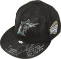 Baseball Collectibles:Hats, 2003 Dontrelle Willis Signed And Game Used Cap....