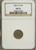Seated Half Dimes, 1859-O H10C AU53 NGC. NGC Census: (1/85). PCGS Population (1/66).Mintage: 560,000. Numismedia Wsl. Price for NGC/PCGS coin...