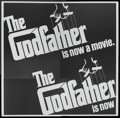 """Movie Posters:Crime, The Godfather (Paramount, 1972). Six Sheet (81"""" X 81"""") Advance.Crime...."""