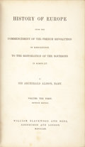 Books:Non-fiction, Sir Archibald Alison. History of Europe from the Commencement ofthe French Revolution in MDCCLXXXIX to the Restoration ... (Total:20 Items)