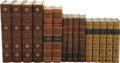 Books:Fiction, Lot of Fifteen Leather-Bound Books From Four Incomplete Sets.From the library of Glenn Ford.... (Total: 15 Items)