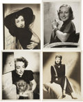 Movie/TV Memorabilia:Autographs and Signed Items, Joan Crawford Vintage Signed Photos.... (Total: 4 Items)