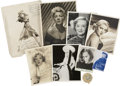 Movie/TV Memorabilia:Autographs and Signed Items, Marion Davies and Others Vintage Golden Age Actress Signed Photos....