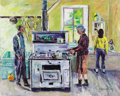 Fine Art - Painting, American:Modern  (1900 1949)  , EMERSON BURKHART (American, 1905-1969). Untitled. Oil oncanvas. 40 x 50 inches (101.6 x 127 cm). Signed lower right:...
