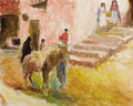 Fine Art - Painting, European:Modern  (1900 1949)  , PAL FRIED (Hungarian, 1893-1976). Village Scene . Acrylic oncanvas. 24 x 40 inches (61.0 x 101.6 cm). Signed lower righ...