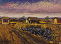 Fine Art - Painting, European:Modern  (1900 1949)  , EMIL LINDENFELD (Hungarian, b. 1905). Farm Scene. Oil oncanvas. 20 x 27-1/2 inches (50.8 x 69.9 cm). Signed lower left:...