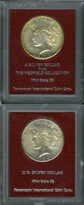 Additional Certified Coins, Pair of Peace Dollars in Redfield Collection Holders.... (Total: 2coins)