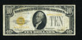 Small Size:Gold Certificates, Fr. 2400* $10 1928 Gold Certificate Star Note. Very Good-Fine.. ...
