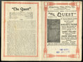 "Movie Posters:Adventure, The Quest (Mutual, 1915). Herald (8"" X 10.75""). Adventure...."