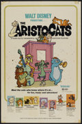 "Movie Posters:Animated, The Aristocats (Buena Vista, 1970). One Sheet (27"" X 41"").Animated...."