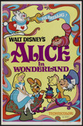"Movie Posters:Animated, Alice in Wonderland (Buena Vista, R-1974). One Sheet (27"" X 41"").Animated...."
