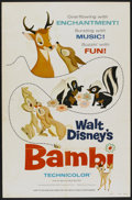"Movie Posters:Animated, Bambi (Buena Vista, R-1975). One Sheet (27"" X 41"") Style A.Animated.. ..."