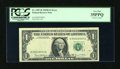 Error Notes:Partial Third Printing, Fr. 1907-B $1 1969D Federal Reserve Note. PCGS Very Fine 35PPQ.. ...