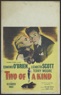 "Movie Posters:Crime, Two of a Kind (Columbia, 1951). Window Card (14"" X 22""). Crime...."