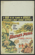 "Movie Posters:Adventure, Tarzan's Peril (RKO, 1951). Window Card (14"" X 22""). Adventure...."