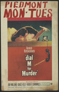 """Movie Posters:Hitchcock, Dial M For Murder (Warner Brothers, 1954). Window Card (14"""" X 22"""").Hitchcock...."""