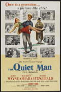 "Movie Posters:Drama, The Quiet Man (Republic, 1952). Special Poster (24"" X 37"").Drama...."