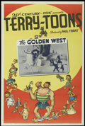 "Movie Posters:Animated, Terry-Toons Stock (20th Century Fox, 1939). One Sheet (27.25"" X41"") The Golden West. Animated...."