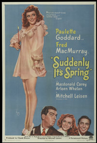 "Suddenly It's Spring (Paramount, 1946). One Sheet (27"" X 41""). Comedy"
