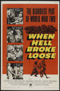 "Movie Posters:War, When Hell Broke Loose (Paramount, 1958). One Sheet (27"" X 41"").War...."