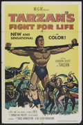 "Movie Posters:Adventure, Tarzan's Fight for Life (MGM, 1958). One Sheet (27"" X 41"").Adventure.. ..."