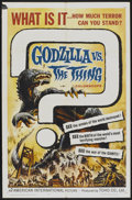 """Movie Posters:Science Fiction, Godzilla vs. the Thing (American International, 1964). One Sheet(27"""" X 41""""). Science Fiction...."""