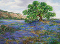 Texas:Early Texas Art - Regionalists, NANCY LYLES WHEELER (American, 20th Century). Hill CountryBlues. Oil on canvas. 30 x 40 inches (76.2 x 101.6 cm).Signe...