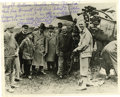 Autographs:Celebrities, Clarence D. Chamberlain Inscribed Signed Photograph with AutographLetter Signed on Verso....
