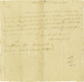 Autographs:Military Figures, Horatio Gates Autograph Letter Signed....