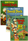 Golden Age (1938-1955):Cartoon Character, Four Color Donald Duck Group (Dell, 1950-52) Condition: AverageVG.... (Total: 4 Comic Books)