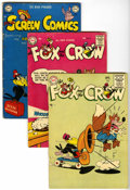 Golden Age (1938-1955):Humor, Real Screen Comics/Fox and Crow Group (DC, 1948-55) Condition: Average GD/VG.... (Total: 12 Comic Books)