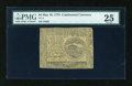 Colonial Notes:Continental Congress Issues, Continental Currency May 10, 1775 $4 PMG Very Fine 25....