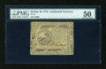 Colonial Notes:Continental Congress Issues, Continental Currency May 10, 1775 $6 PMG About Uncirculated 50....