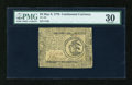 Colonial Notes:Continental Congress Issues, Continental Currency May 9, 1776 $3 PMG Very Fine 30....